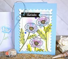 It's Blog Hop time at Papertrey Ink, and Nichole's challenge is this dreamy photo Inspiration? Well, there's the color, robi...