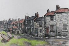 Norman Cornish - Back of Tenters Street, Bishop Auckland is available for sale at Castlegate House Gallery. Norman Cornish, Bishop Auckland, Urban Life, Beautiful Islands, Paintings For Sale, House Painting, Home Art, Houses, Buildings