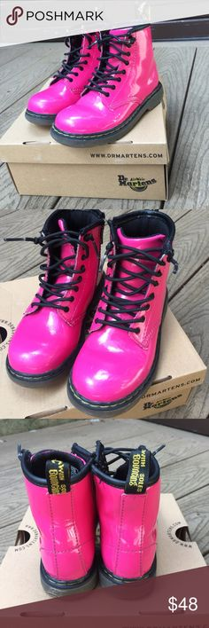 Dr. Martens Pink Boots Gently used Pink Dr. Martens little girls boots.  Size 10T Dr. Martens Shoes Boots
