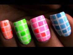 Color blocking nail polish designs for beginners to do at home Easy Striping tape Tutorial video DIY