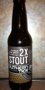 2X Stout - Southern Tier Brewing Company - Lakewood, NY - BeerAdvocate - very delicious double milk stout