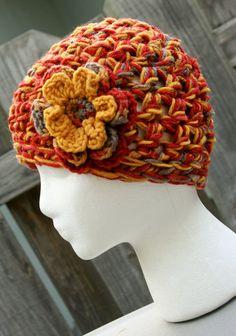 Ladies cloche crochet flower accent hat @Natasha Wiegand