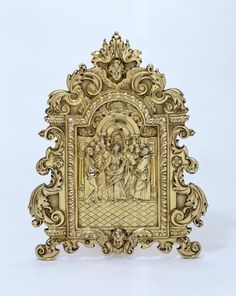 Silver-gilt, cast, chased and soldered. 1660