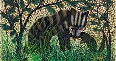 Pilipili Mulongoy, Sans titre, non daté (Détail)—Huile sur papier, 37 x 52 cm