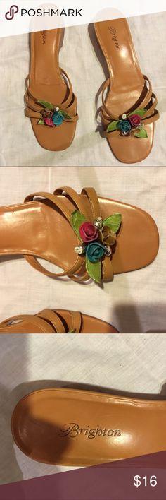 Brighton sandles super cute Size 9 1/2 M Worn but EUC Brighton Shoes Sandals
