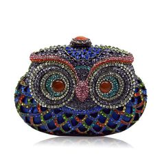 Handmade Colorful Crystal Owl Full Crystal Hollow Out Evening Clutch Bag  #Bag #fashiontred #DesignerClutch #BridalClutch #celebritystyle #Love #pink #Purses #Instyle #TransparentClutch