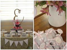 Chá de bebê rosa e dourado   Ideias para a decoração de chá de bebê