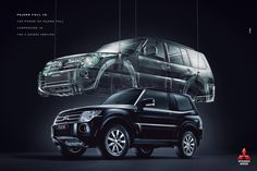 """Pajero Full The power of Pajero Full compressed in The 3 - Doors Version"" Pajero Full, Outlander 2017, Montero Sport, Pajero Sport, Ad Car, Mitsubishi Pajero, Prado, Jeep, Advertising"