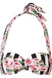 7dae54c6a70 Dolce   Gabbana Floral-print bandeu bikini top