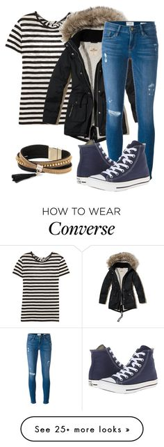 """""""chill"""" by pashion1for2fashion on Polyvore featuring Proenza Schouler, Hollister Co., Frame, Converse and Simons"""
