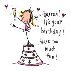 it's your birthday! have too much fun happy birthday Happy Birthday 1, Happy Birthday Wishes Cards, Birthday Blessings, Happy Birthday Pictures, Birthday Wishes Quotes, Funny Birthday Cards, Birthday Greeting Cards, It's Your Birthday, Happy Bday Message