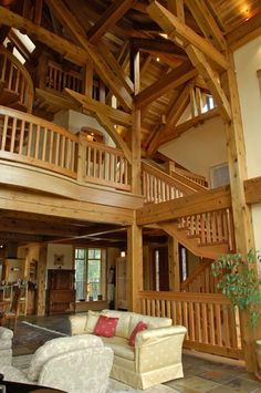 Clearly, this is a little over the top, BUT the point is the wooden railings are beautiful!