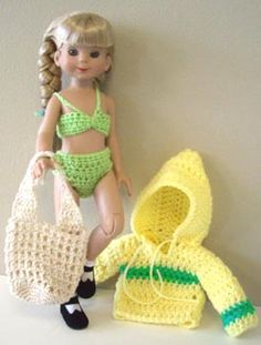"for 14"" Betsy McCall ~  Betsy's Crochet Beach Set $"