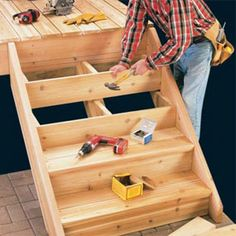 Step-by-step instructions to build deck stairs