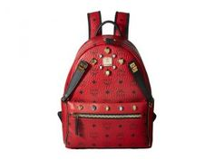 MCM Dual Stark Small Backpack (Ruby Red) Backpack Bags