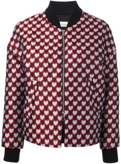 Red Valentino Bomber Jacquard in Multicolor (Red) - Lyst