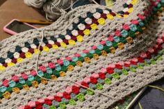 crochet blanket. Great for using up the yarn stash.