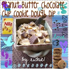"""Peanut Butter Chocolate Chip Cookie Dough Dip"" by the-amazing-tip-chickas on Polyvore"