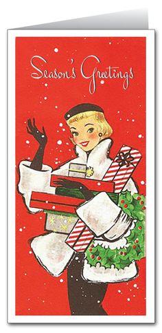 Vintage Mod Holiday Card : Harrison Greetings, Business Greeting Cards, Cartoon Humor Greeting Cards, Holiday Greeting Cards, Christmas Greeting Cards