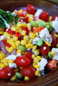 Clean Eating Corn Salad. So fresh and tastes just like summertime! YUM!!!