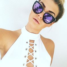 Can't get enough of @novalanalove in Quay  #quayaustralia #sunglasses #love #whitefoxboutique