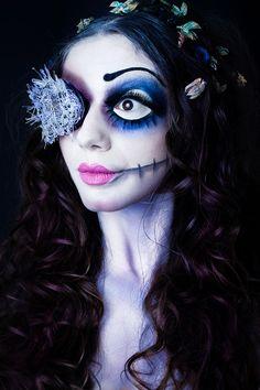 project: Corpse Bride  make up & hair: Raffaella Fiore MAKE-UP  photographer: http://www.laschienadilara.com/  model: Maura Di Vietri  Tagged: corpse bride tim burton laschienadilara laschienadilara.com dark goth photography halloween LSDL makeup make-up