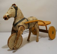 Antique Rocking Horse, Rocking Horse Toy, Vintage Horse, Shabby Chic Antiques, Vintage Antiques, Wooden Horse, Hobby Horse, Pull Toy, Ride On Toys