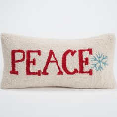 Mina Victory Home for the Holiday Love Natural Throw Pillow x by Nourison x Red, Size Specialty (Polyester, Novelty) Lumbar Throw Pillow, Christmas Pillow, Wool Pillows, Accent Pillows, Decorative Throw Pillows, Pillow Covers, Home Decor, Neutral, Natural Bedding