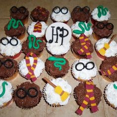Harry Potter themed cupcakes by Fit food by Al & catering....contact her on Facebook!!