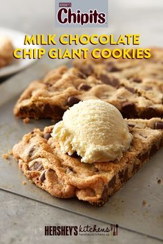 Impress with CHIPITS Milk Chocolate Chip Giant Cookies! Made with CHIPITS Milk Chocolate Chips, these giant cookies are an easy way to change up a classic.