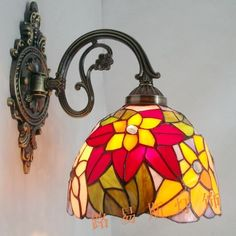 Direct manufacturers exporting European style wall lamp antique Tiffany bedside lamps balcony staircase lighting glass
