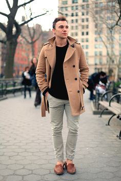 Scout Sixteen - Justin Livingston  camel coat and neautral basics