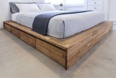 Features: -Walnut finish. -Sturdy: Yes. -Squeaky: No. Frame Material: -Wood. Under Bed Storage: -Yes. Slats Required: -Yes. Slats Included: -Yes. Finish or Fabric: -English Walnut. Headboard