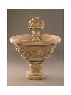 Fruit Urn Garden Water Fountain