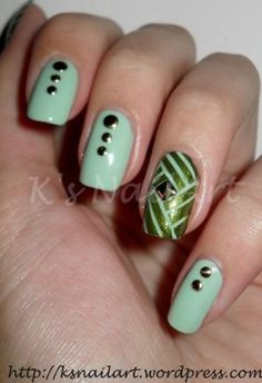 green-tape-nails