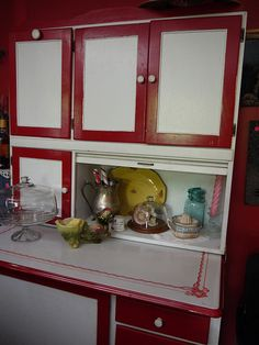 Our Hoosier Cabinet - purchased at an estate sale and kept it for myself!