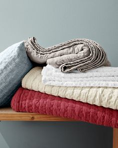 Eileen Fisher Rippled Organic Cotton Coverlet And Sham