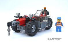 Lego Technic Truck, Lego Truck, Lego Tractor, Technique Lego, Construction Lego, Lego Machines, Lego Builder, Lego Vehicles, Cool Lego Creations