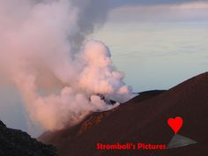 The #crater of #Stromboli seen from the side of #Ginostra.