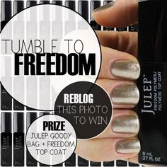 Follow Julep on Twitter & reblog the photo for a chance to win a box full of Julep goodies  <3  #Julep
