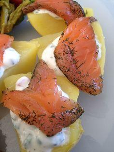 Pomme de terre au saumon fumé