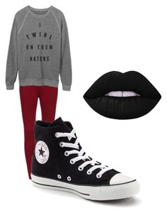 Untitled #12 by kaylee-friend on Polyvore featuring polyvore, fashion, style, Converse, Lime Crime and clothing