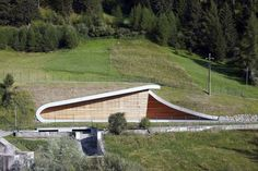 Image 17 of 23 from gallery of Hydroelectric Power Station Punibach / monovolume architecture + design. Courtesy of monovolume architecture + design Unique Architecture, Architecture Student, Sustainable Architecture, Landscape Architecture, Hydroelectric Power, Architectural Engineering, Unique Buildings, Living Environment, Green Building