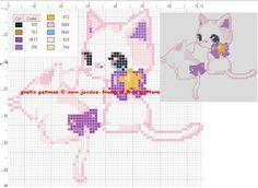 195 Free cross stitch designs cats 7 stitchingcharts borduren gratis borduurpatronen poezen katten kruissteekpatronen
