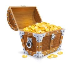 Treasure chest em psd pirates series of exquisite icons download free vector clipart
