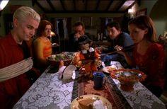 "Pangs Season 4 Anya - ""I love a ritual sacrifice."" Buffy - ""It's not really a one of those."" Anya - ""To commemorate a past event, you kill and eat an animal. It's a ritual sacrifice. With pie."" - Buffy the Vampire Slayer Joss Whedon, Buffy Im Bann Der Dämonen, Ritual Sacrifice, Fangirl, 1 Gif, Tv Episodes, Buffy The Vampire Slayer, Spike Buffy, Geek Out"