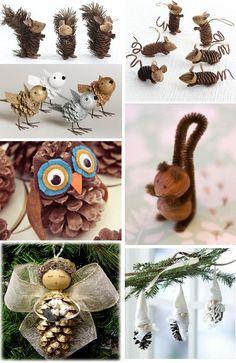 Vysněná zahrada: Domácí vánoční ozdoby ze zahrady Pinecone Crafts Kids, Acorn Crafts, Pine Cone Crafts, Pumpkin Crafts, Easy Christmas Crafts, Thanksgiving Crafts, Christmas Projects, Simple Christmas, Fall Crafts