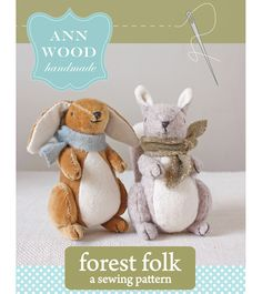 This is a sewing pattern (downloadable PDF) for little forest folk, a bunny and a squirrel. The pdf file consists of 23 pages (including pattern sheets) and is about 11 MB in size. You will need Ad…