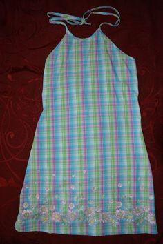 GIRL CODE GIRLS SLEEVELESS SUMMER BLUE/PURPLE/GREEN DRESS SIZE 12  *CUTE* #GirlCode