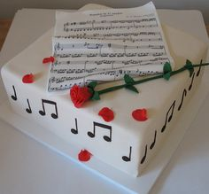 Art cakes+music= :) cakes-bakes-and-makes Music Themed Cakes, Music Cakes, Pretty Cakes, Beautiful Cakes, Amazing Cakes, Cupcakes, Cupcake Cakes, Piano Cakes, Cupcake Boutique